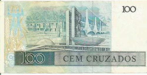 699 - cédula brasil c187 - cem cruzados
