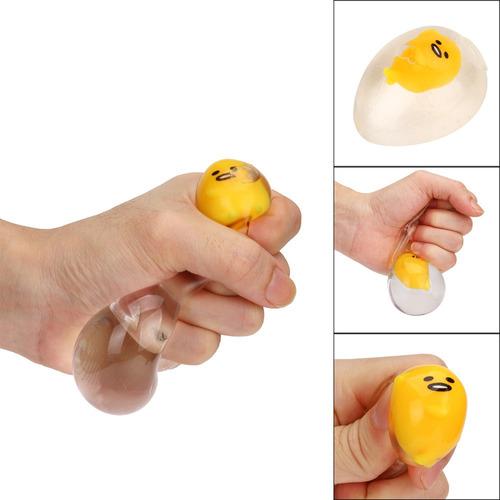 6cm novedad claro exprimible yema juguete squishy juguete al