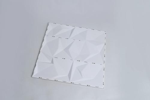 6m² placa 3d pvc autoadesiva 50x50cm branco fosco poly