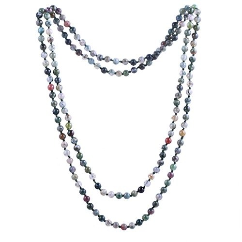 79e362a69d73 6mm India Ágata Cuentas Collar De Mujer Hecha A Mano Collar ...