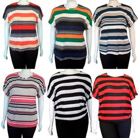 b3b663c561f0ff 6pç Camisa Plus Size Feminina Dia Das Mães Luxo Malha Fria