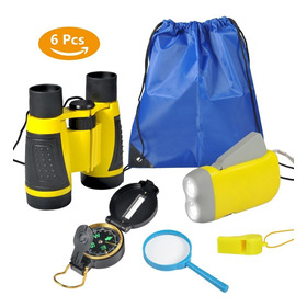 6pcs Outdoor Exploração Binóculos Set Young Kids Educaç¿