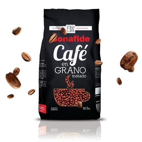 6un x café tostado en granos calidad premium bonafide  x kg