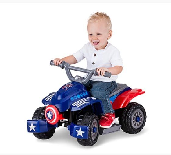 Capitan Quad 6v Electrica Marvel Juguete America Moto Niños jzpqUMVGSL
