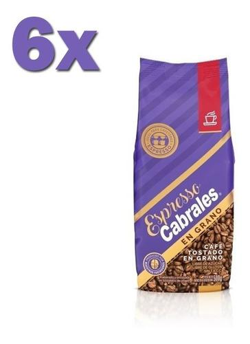 6x cafe grano super cabrales oro 500gr 3kg tostado