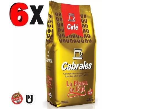 6x cafe molido cabrales la planta 1kg 6kg torrado