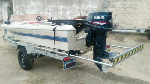 6x cartão!! carretinha barco lancha bote 15 / 16 pés c/pneus