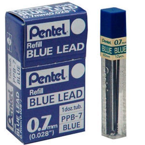 1292f984d 6x Mina Grafite Pentel 0.5mm 0.7mm 0.9mm Azul E Vermelho - R$ 64,90 ...