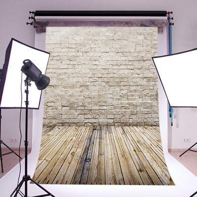 6x9ft piso de madera ladrillo pared vinilo estudio fondo fot