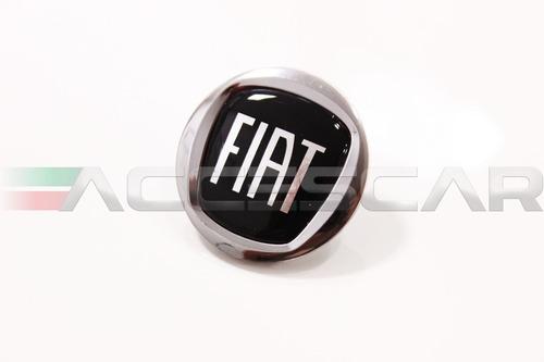 7 adesivos emblema fiat preto punto 2008 ( frete fixo )