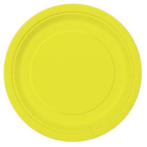 7  amarillo neón parte de las placas 20ct