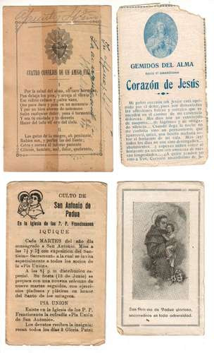 7 antiguas estampas de oraciones: sagrado corazon de jesus
