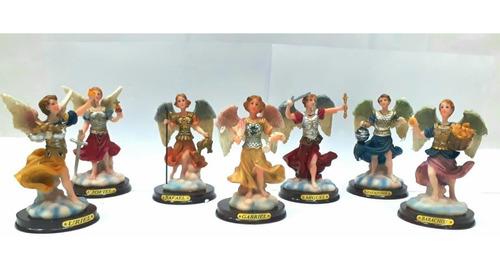 7 arcangeles figuras religiosas de resina