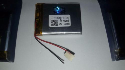 7 baterias de lipo 3,7v 1500mah lithium-polimero 2 fios