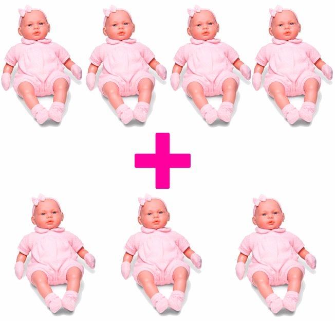 e31a7c9c7 7 Bonecas Bebê Real Certidão De Nascimento 5075 - Roma - R  399
