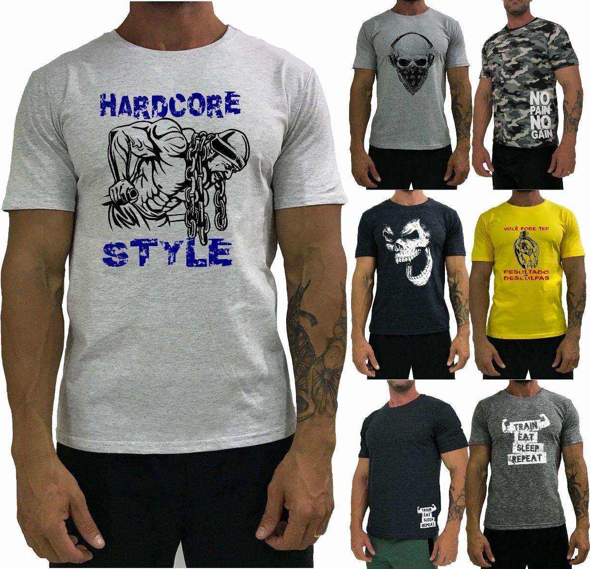 7 Camiseta Masculina Blusa Camisa T-shirt Caveira Original - R  152 ... cf801c3740