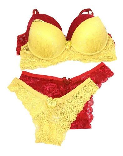 7 conjunto lingerie sexy sutia bojo calcinha luxo atacado