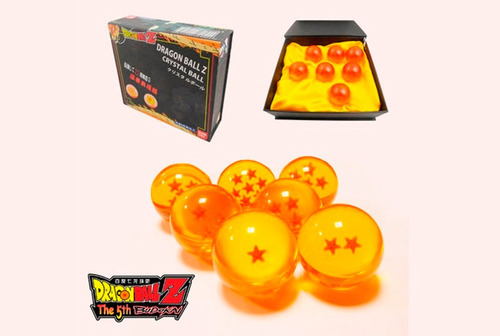 7 esferas de dragón ball z bandai originales !!!