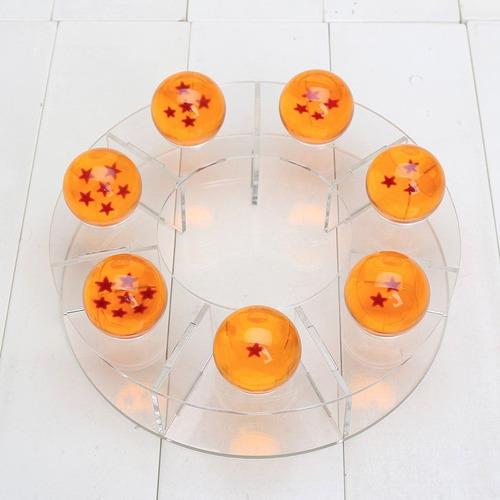 7 esferas del dragon + 7 mini esferas + shen long + estante