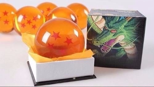 7 esferas dragon ball z 7cm tamanho real +brind promoção kit