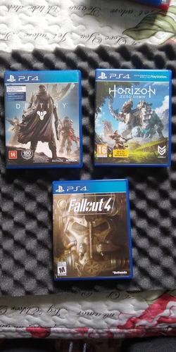 7 jogos de ps4, fallout 4, uncharted, destiny, just cause 4.