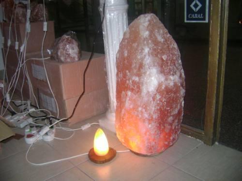 7 kits cables blanco foco15w y 7 kg piedras de sal ch/median