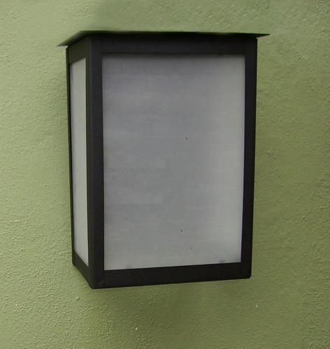 7 lampara pared farol moderno exterior led 2000