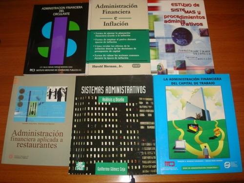 7 libros: administracion, gerencia