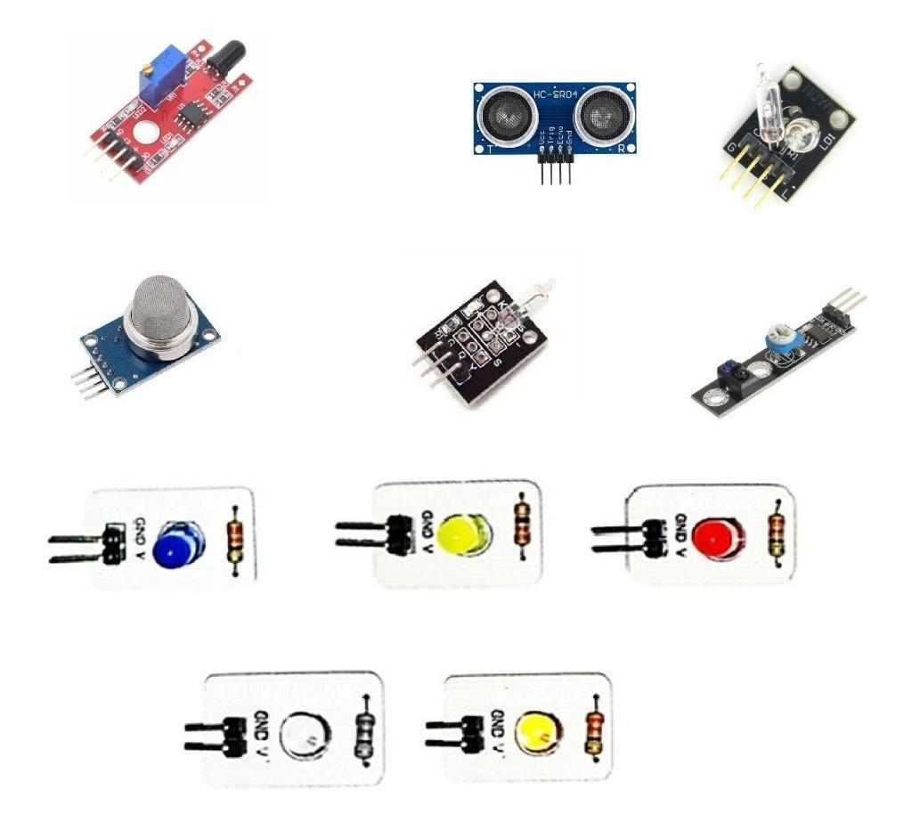 7 Módulos Sensores Diferentes Para Arduino 11 Piezas