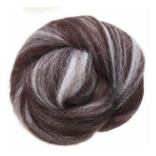 7 paquete de lana corriedale top de fieltro roving teñido d