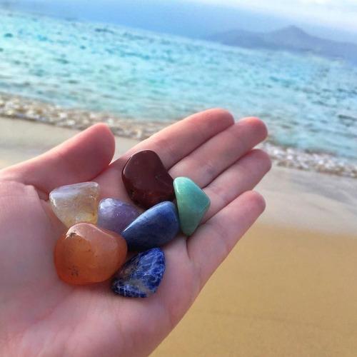7 pedras dos chakras naturais cristais pequenas kit mistos