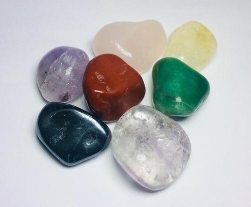 7 pedras naturais dos chakras cristais variados tamanho medi