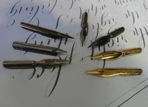 7 penas caligrafia e desenho - especiais - frete grátis