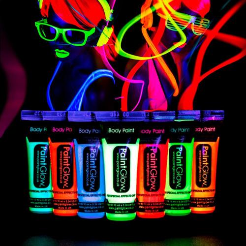 7 pintura fluor 25ml neon pinta carita fiestaclub