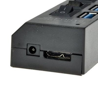 7 puertos usb 3.0 hub de encendido / apagado con soporte as