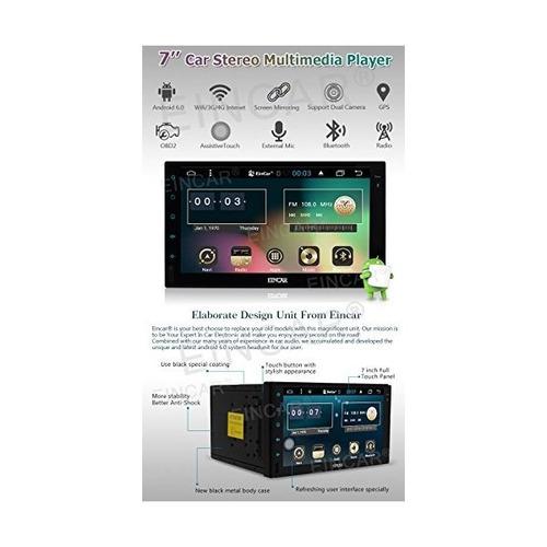 7 pulgadas android 6.0 estéreo del coche con la pantalla tác