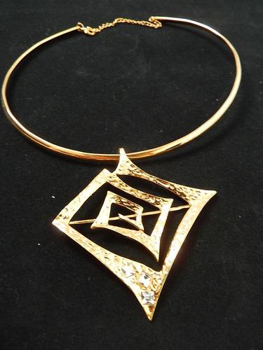 898775039c75 7 Pz Collar gargantilla Metálico Con Pedrería Para Mujer V m ...