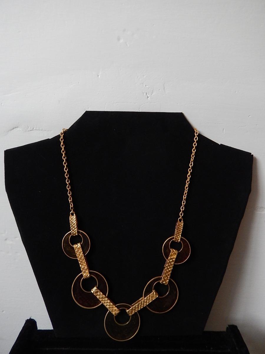 e986f064d522 7 pz collar gargantilla metálico con pedrería para mujer v m. Cargando zoom.