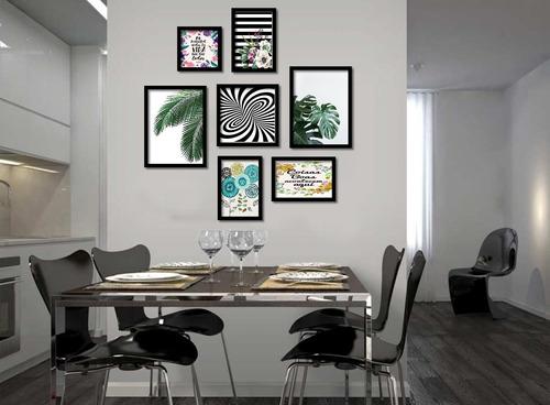 7 quadros decorativos salas hall  1,05x1,05