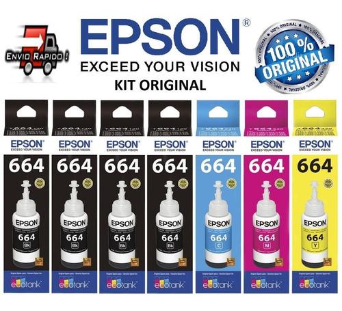 7 tintas epson original l380 l365 l375 l395 l455 l475 l495