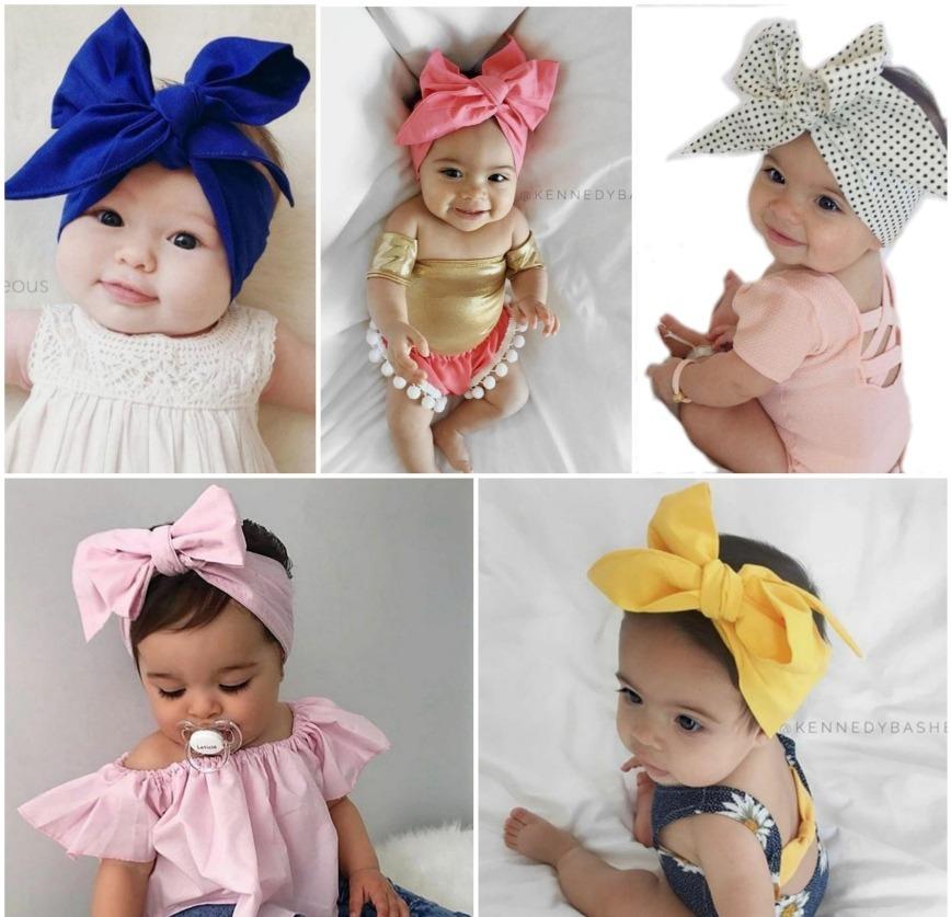 7 Turbantes A Elegir Desarmables Para Bebe Niñas