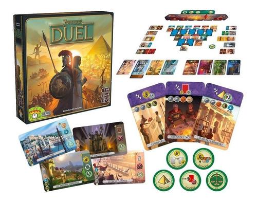 7 wonders duel - board game português - galápagos jogo