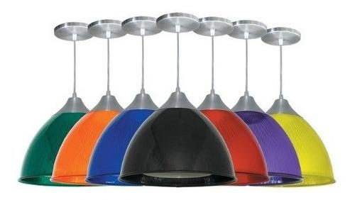 7 x pendente prismático colorido gota luminária lustre