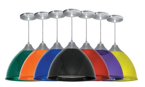 7 x pendente prismático gota colorido