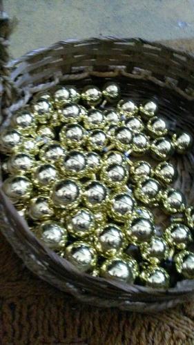 70 bolas de natal antiga vidro amarela dourada