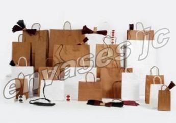 70 bolsas de papel kraft madera manija delivery cumpleaños