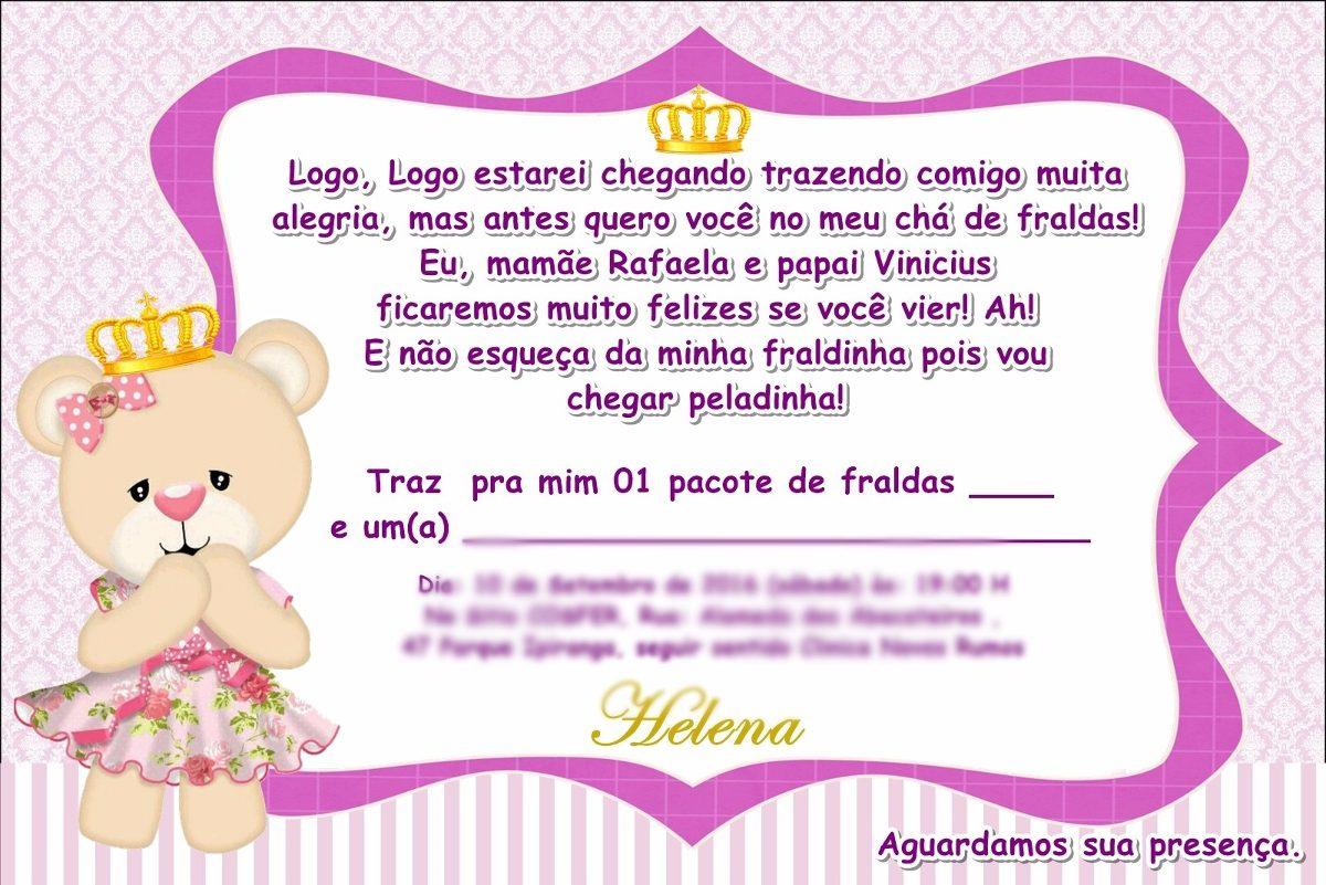 Tag Cha De Bebe Convite Feminino
