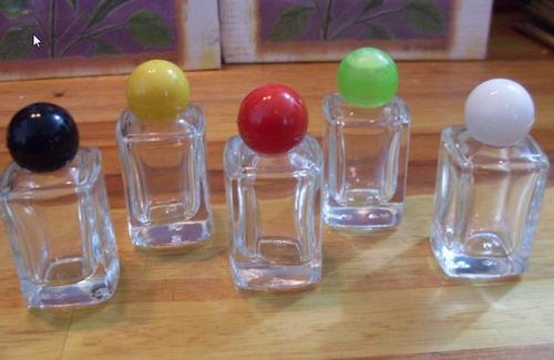 70 frascos para perfume 10 ml vidro quadrado e tampa bola.