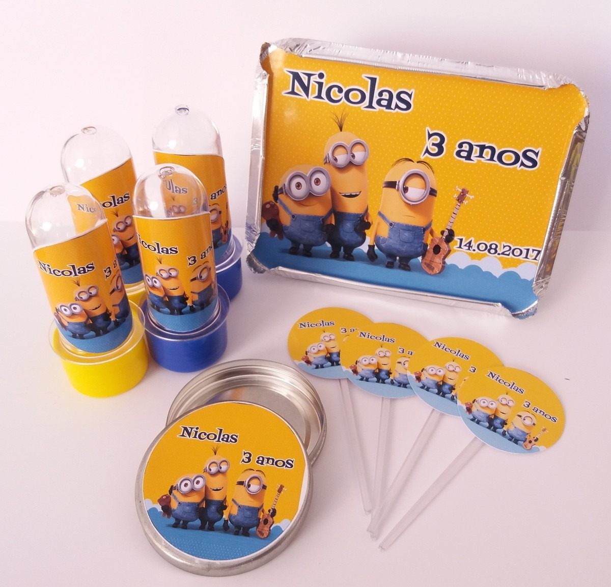 70 Itens Lembrancinhas De Aniversário Do Minions - R$ 99,90 em Mercado Livre