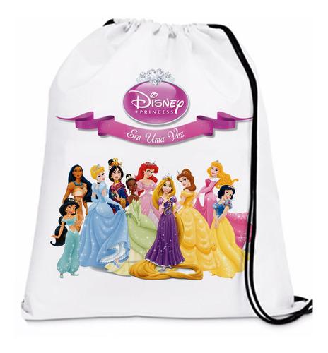 70 mochilinhas  sacoxhila princesas disney personalizadas